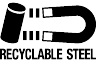 recycled steel logo