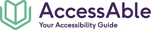 Image of the outline of an open book with the text 'AccessAble - Your Accessibility Guide' with a link to the AccessAble website