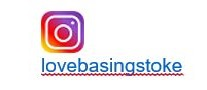 Instagram logo linking to lovebasingstoke instagram account