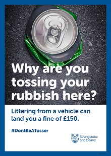litter posters3 #DontBeATosser campaign