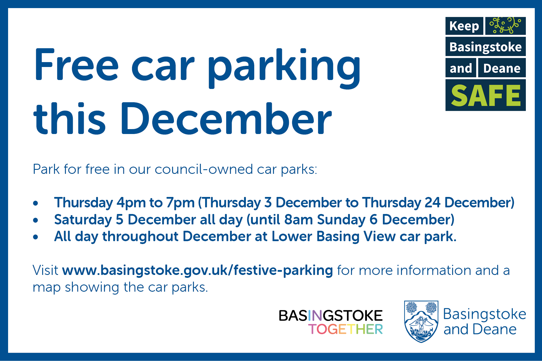 37632 Free parking this festive season Sinbad