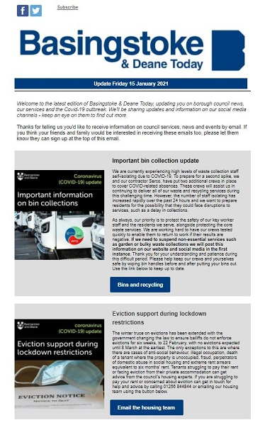 eNewsletter 15 January 2021