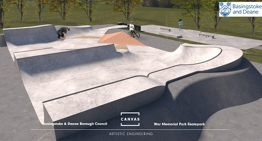 Canvas visual of skatepark - top overview - Mar 21